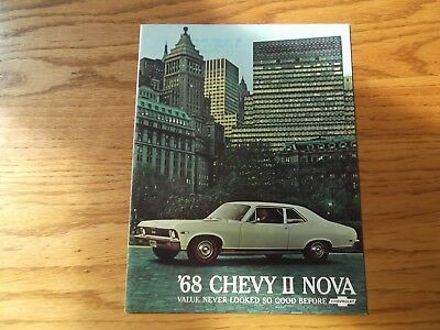 1968 Chevrolet Chevy 2 Nova Car Dealership Brochure.super Sport.