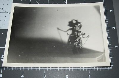 Indonesian MARIONETTE Shadow Light Puppet Man Abstract STILL LIFE Vintage PHOTO