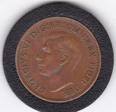 Very  Scarce 1951  King George VI   Penny (1d)  Bronze  British  Coin
