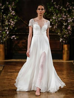 AUTHENTIC!  Isabelle Armstrong Kaitlyn X Wedding Dress Lace Size 12  $4.2K NEW!