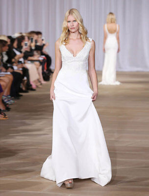 AUTHENTIC! Ines Di Santo Fair X Wedding Dress Sleeveless Aline Size 10 NEW $5.2K