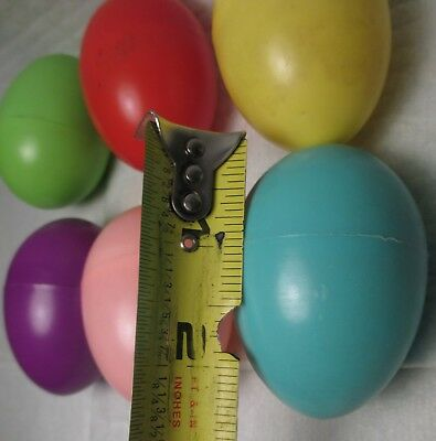 6 Vintage Colorful Easter Egg Shaped Candy Boxes Plastic Container mid century