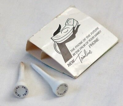 1965 Bell System Western Electric Trimline Telephone Golf Tees Promo Phone