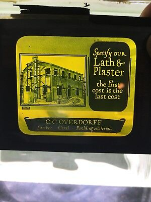 Antique Advertising Projector Slide For Silent Movies.