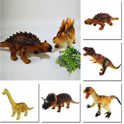 Large Soft Rubber Stuffed Dinosaur Toy Model Action Figures Play For Kid~ Latest