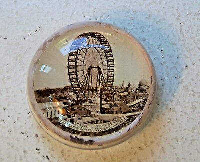 Ferris Wheel 1893 Chicago Columbian Exposition Paperweight