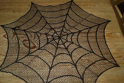 Yankee Candle Black Halloween Spider Web Lace Doily Set 3