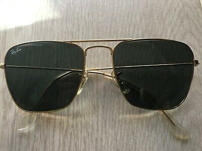 Ray Ban Vintage 70's Square Gold Wire sunglasses Mod look