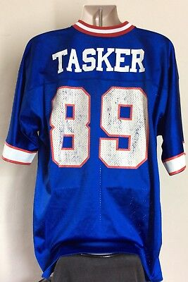 093458ef Vtg 80s 90s Steve Tasker Buffalo Bills Jersey Blue XL NFL Football Logo  Athletic