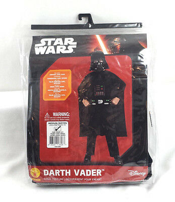 Darth Vader Star Wars Halloween Costume Child Medium Pajama Outfit Disney Rubies