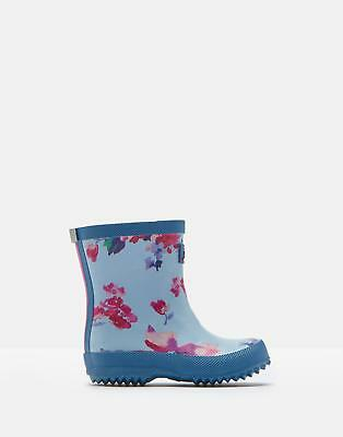 Joules 125053 Printed Welly in BLUE FLORAL