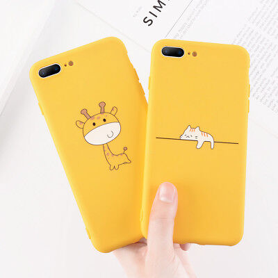 For iPhone XS X 5s 6s 7 8 Cute Pattern Ultra Thin Soft TPU Silicone Case Cover