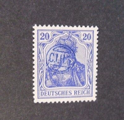 """GERMANIA,GERMANY D.REICH PLEBISCITO 1920 OVP """" C.I.H.S."""" 20 c. MH  Signed"""