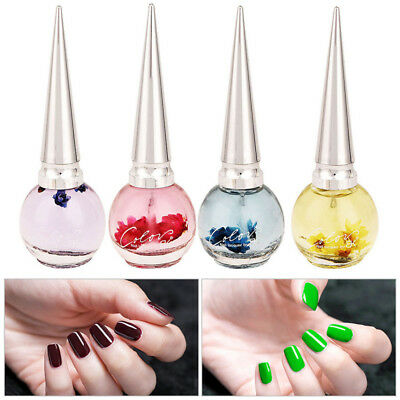 10ml Fleurs séchées Nail Oil Treatment Vernis à ongles Gel Cuticle Revitalizer