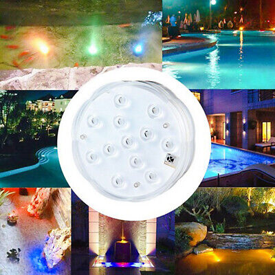 Waterproof LED Vase Light Swimming Pool Floral Lamp Cordless Remote Control