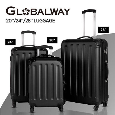 SALE Costway 3PC Luggage Suitcase Set TSA Travel Hard Case Lightweight Black