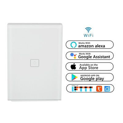 1 Gang Smart Touch Light Switch WiFi RF APP Remote Control For Google Home Alexa