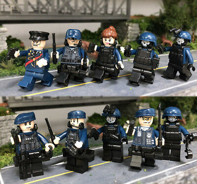 SWAT POLICE  Military Mini figures Weapons Army SS Soldier  Fit Lego Toys10set