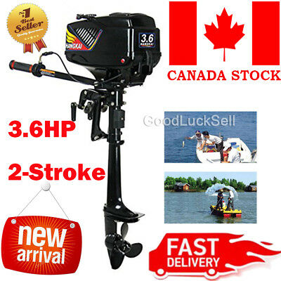 New Design Hangkai Water Cooled 2 Stroke 3.6HP Outboard Motor Petrol Engine CAN