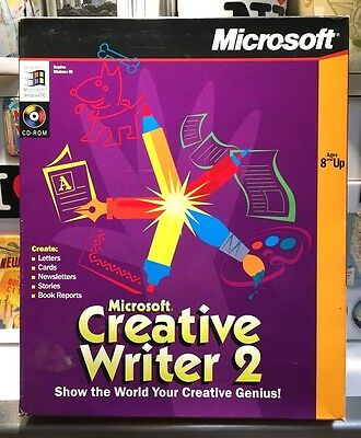 Microsoft Creative Writer 2 (Windows 95) - Original - Good Condition