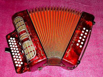 Sale !!  Wow ! Top Made In Germany Hohner Gcf Corona  Iii R Button  Accordion