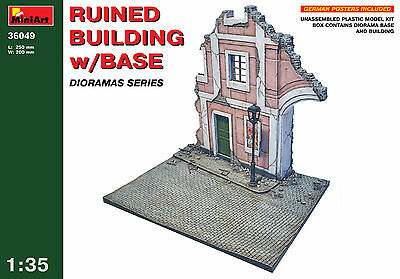 Ruined Building with base   1/35 MiniArt   # 36049