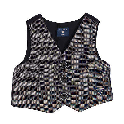 GUESS Waistcoat 3-6M Contrast Back Button Front V Neck N64N72-30CA2