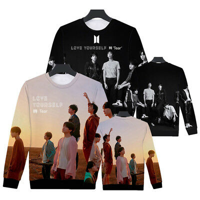 UK Unisex 3D Kpop BTS Bangtan Boys Sweatshirt Hoodie LOVE YOURSELF轉 Tear