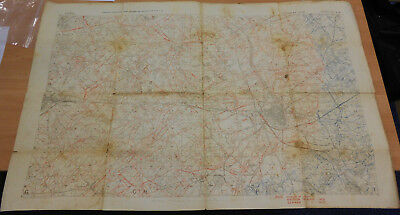 Vintage World War 1 Field Survey Map of WW1 Trenches