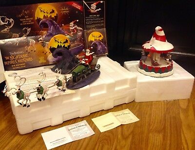 ( TWO )   EXTREMELY - RARE   Nightmare Before Christmas Hawthorne Village Pieces