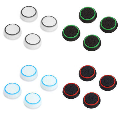 2 Pair Thumb Stick Cover Grip Caps For Sony PS4 + PS3 Dualshock4 Controller