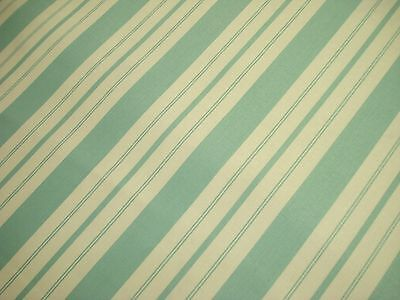 "One Yard Waverly Country Inn Stripe Ticking 100% Cotton Fabric Robin Egg 54"" Bty"