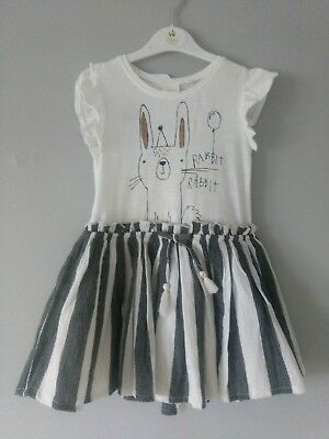 Next Baby Girl Bunny Dress Size 18-24mths