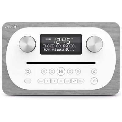 Pure EVOKE-CD4-GREY All-In-One DAB+/FM System with CD and Bluetooth in Grey Oak
