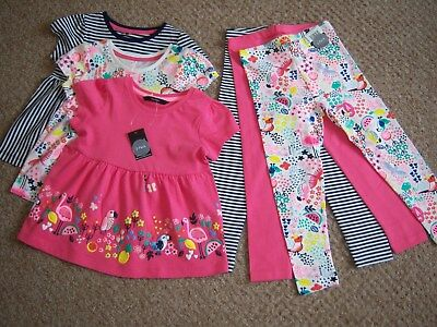 "BNWT AGE 2-3 YEARS GIRLS ""GEORGE"" TOPS & LEGGINGS OUTFIT BUNDLE (next day post)"