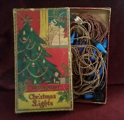 "Vintage ""Decorative Christmas Lights"" In Original Box"