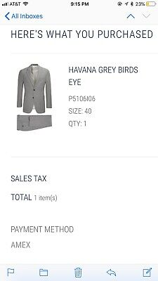 Suitsupply Havana Full Lined 40R Grey Birds Eye Suit. New with Tags. Unaltered.