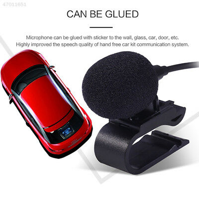 347F Car DVD Radio Mini Wired External Stereo Microphone 3.5mm Jack Plug Mic
