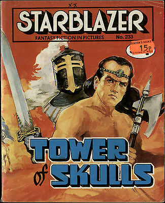 Tower Of Skulls,starblazer Fantasy Fiction In Pictures,no.233,1989,comic