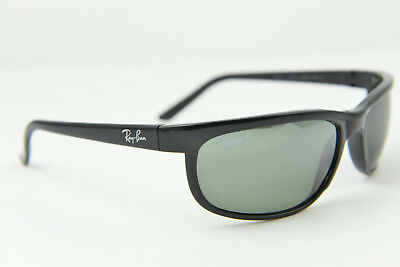 a92472a698 Ray-Ban RB2027 601 W1 3P predator wrap POLARIZED sunglasses glasses Glossy  Black