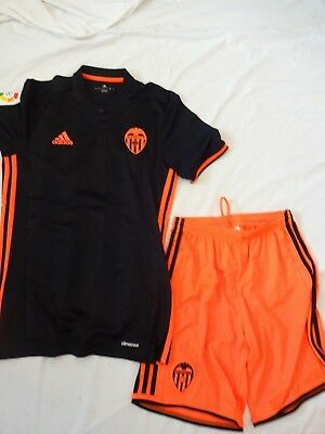 Valencia CF Adidas Orange & Black Football Top Adult Small with Shorts