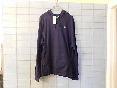 Mens Authentic Lacoste Pullover Lightweight Hoodie/Hooded T-Shirt NAVY 9 4XL NWT