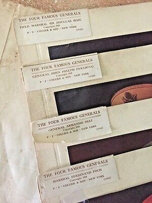 The Four Famous Generals Pictures Collier 1918 Color Pershing Foch Diaz Haig