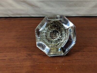 Vintage Antique 8 Point Clear glass Door Knob