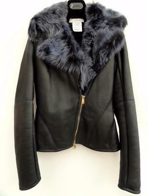 Versace Collection Fur Lined Lamb Leather Jacket SIZE IT40 UK8 New Coat adef07bf97d