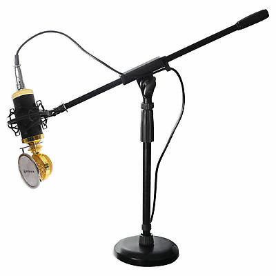 Rockville RCM02 Gaming Twitch Microphone Streaming Recording PC Game Mic+Stand