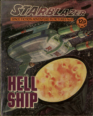 Hell Ship,starblazer Space Fiction Adventure In Pictures,no.13,1979