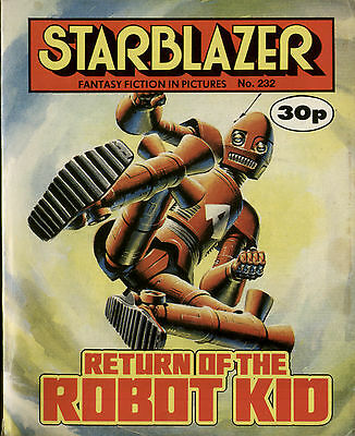Return Of The Robot Kid,starblazer Fantasy Fiction In Pictures,no.232,1989,comic