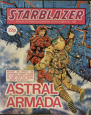 Astral Armada,starblazer Space Fiction Adventure In Pictures,no.139,1985