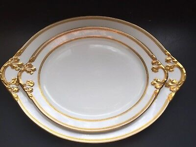 """Two (2) ANTIQUE Wm GUERIN LIMOGES CHINA  SERVING PLATTERS-12"""" & 15"""""""